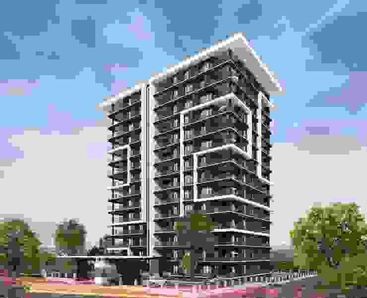 Farklı yüzlerin birleşimi Mimayris Proje ve Yapı Ltd. Şti. Apartman Tuğla Siyah