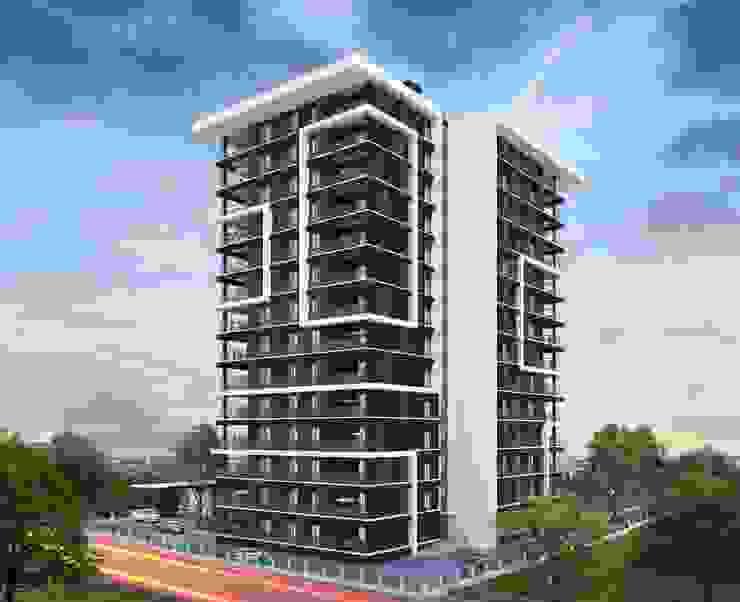 Renk Uyumu Mimayris Proje ve Yapı Ltd. Şti. Apartman Tuğla Beyaz