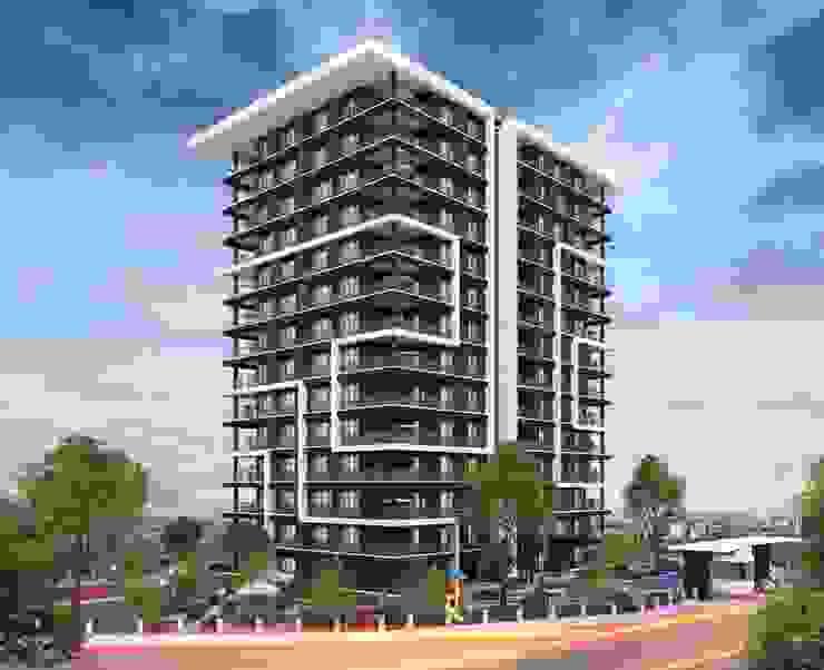 Tasarımı değer katıyor Mimayris Proje ve Yapı Ltd. Şti. Apartman Ahşap-Plastik Kompozit Turuncu