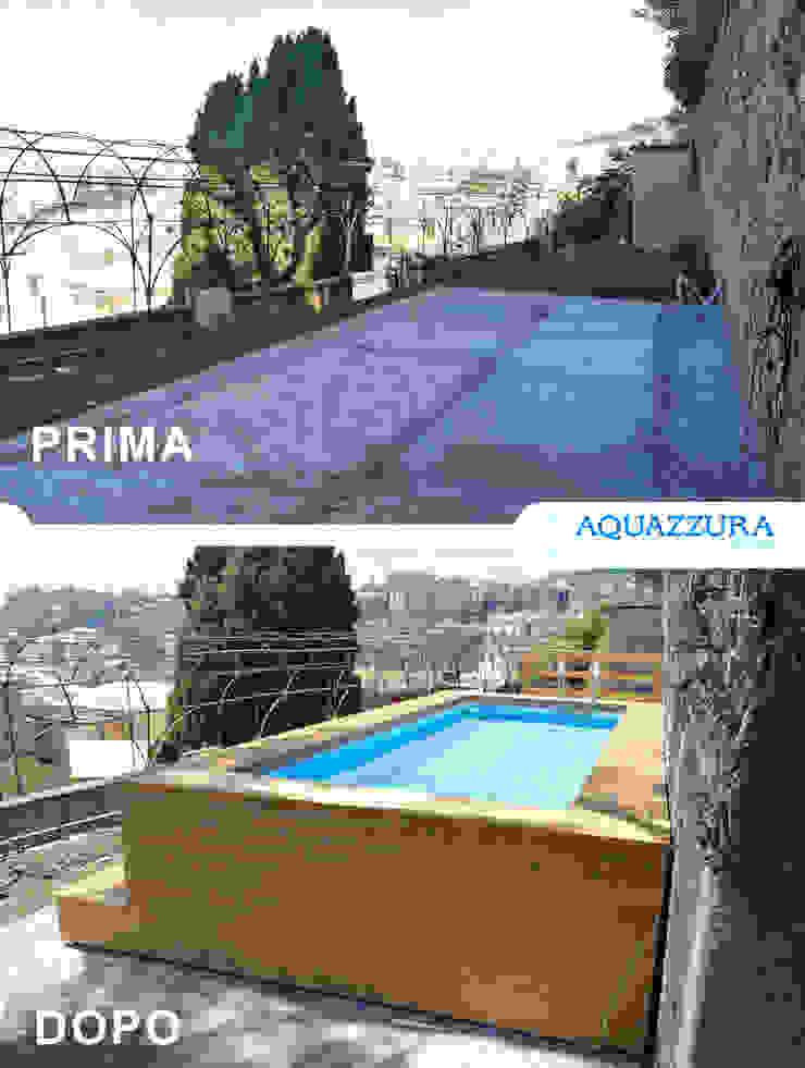 La piscina fuori terra rivestita in legno o wpc arreda il tuo giardino ed è un divertimento estivo per tutta la famiglia . Aquazzura Piscine Giardino con piscina