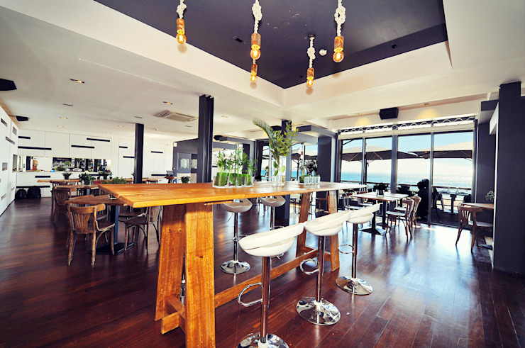 Officina Boarotto Ruang Makan Gaya Rustic Kayu Wood effect