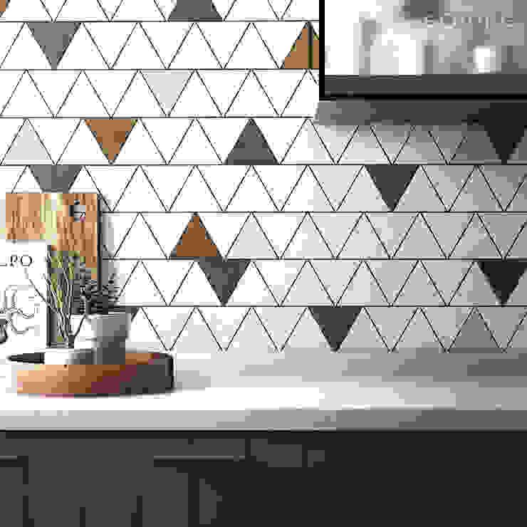Scale Triangolo Cocinas de estilo moderno de Equipe Ceramicas Moderno Cerámico