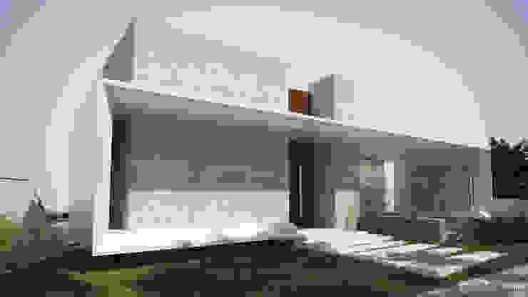 Fachada concreto Gelker Ribeiro Arquitetura | Arquiteto Rio de Janeiro Banheiros modernos Concreto Branco