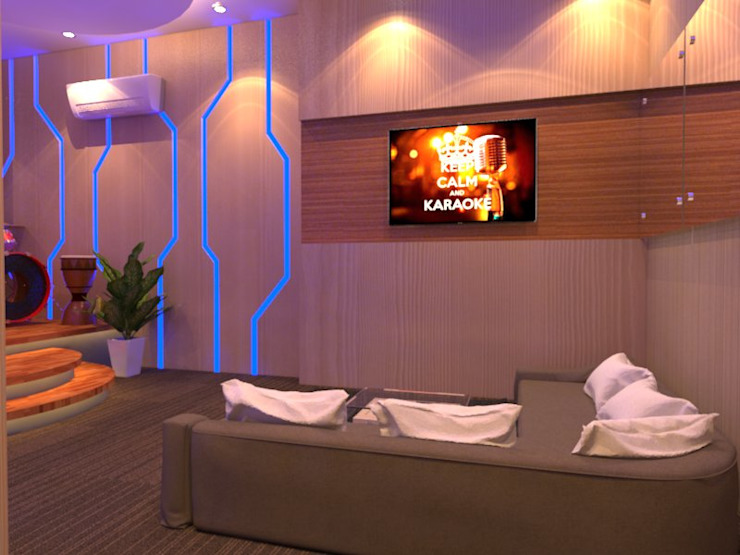 Modern style media rooms by Arsitekpedia Modern