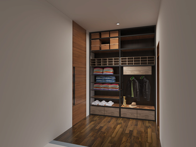 Vestidores y closets de estilo  por Arsitekpedia