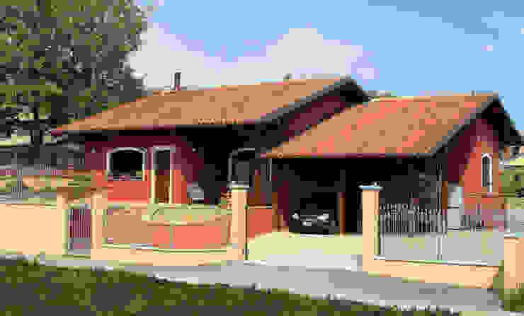 COSTRUZIONE TRADIZIONE COMUNE CUNEO Sangallo srl Casa di legno Legno Rosso
