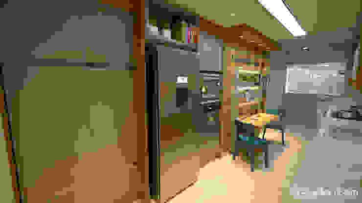 Small kitchens by Gelker Ribeiro Arquitetura | Arquiteto Rio de Janeiro, Modern Engineered Wood Transparent