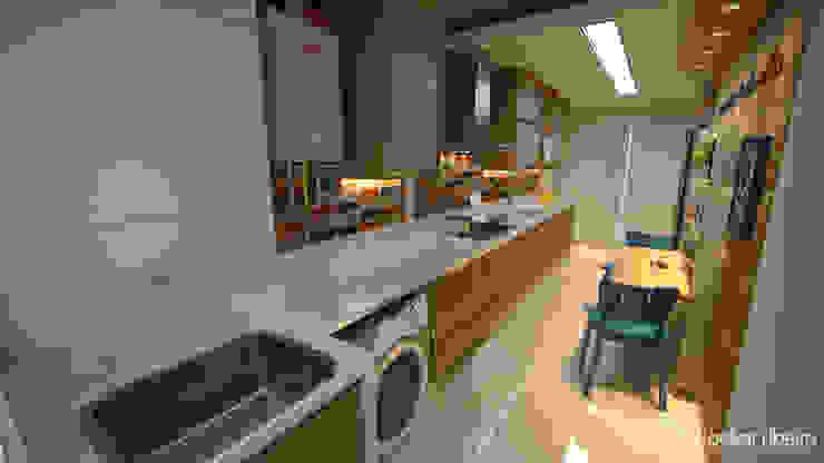 Cozinha por Gelker Ribeiro Arquitetura   Arquiteto Rio de Janeiro Moderno Derivados de madeira Transparente