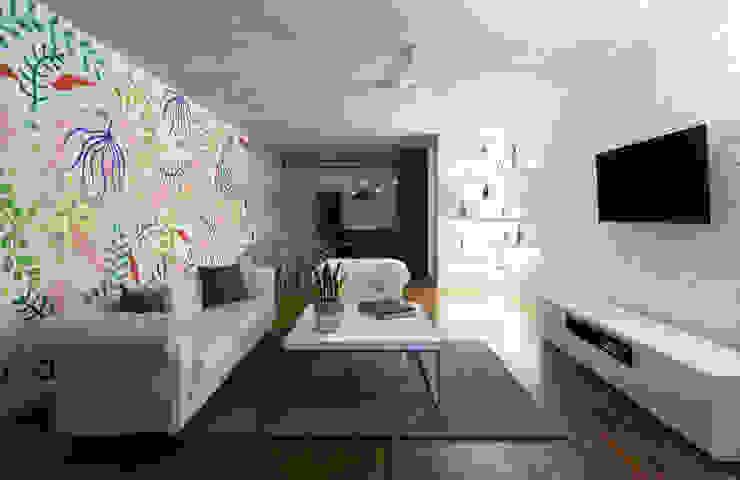 sala/comedor: Salas de estilo  por Daniel Cota Arquitectura | Despacho de arquitectos | Cancún, Minimalista Concreto