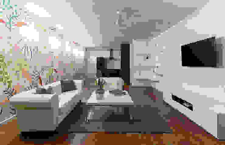 Daniel Cota Arquitectura | Despacho de arquitectos | Cancún Minimalist living room Concrete White