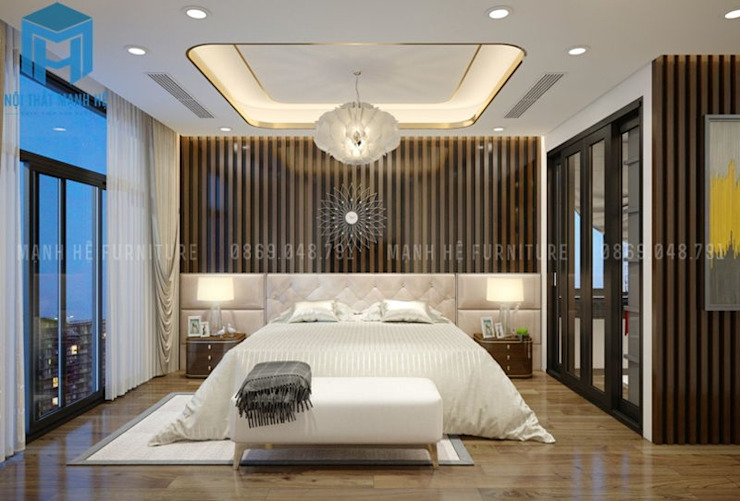 Nội thất phòng ngủ master Phòng ngủ phong cách hiện đại bởi Công ty TNHH Nội Thất Mạnh Hệ Hiện đại