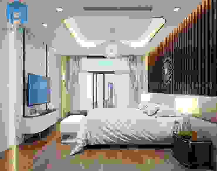 Không gian phòng ngủ master đẳng cấp Phòng ngủ phong cách hiện đại bởi Công ty TNHH Nội Thất Mạnh Hệ Hiện đại