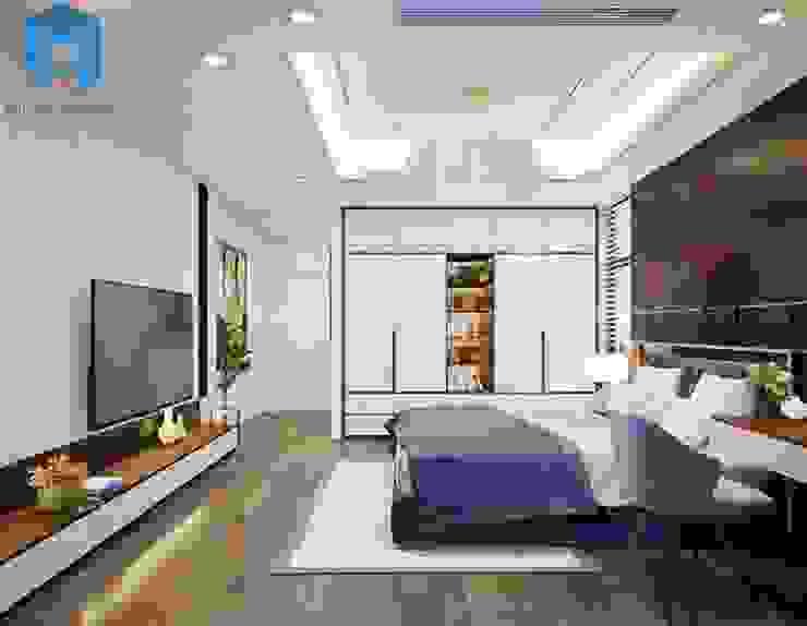 Nội thất phòng ngủ nhỏ cho con trai thứ khá hiện đại bởi Công ty TNHH Nội Thất Mạnh Hệ Hiện đại