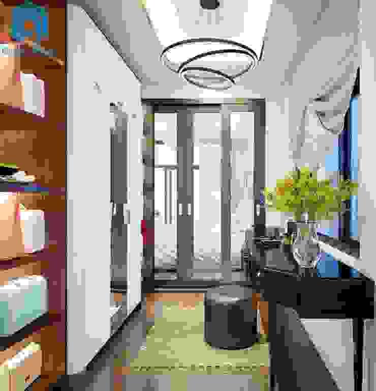 Phòng thay đồ nhỏ - gọn Phòng thay đồ phong cách hiện đại bởi Công ty TNHH Nội Thất Mạnh Hệ Hiện đại