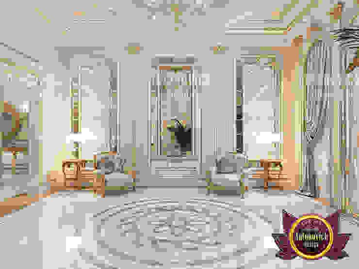 Neoclassical Living Room Interior by Luxury Antonovich Design