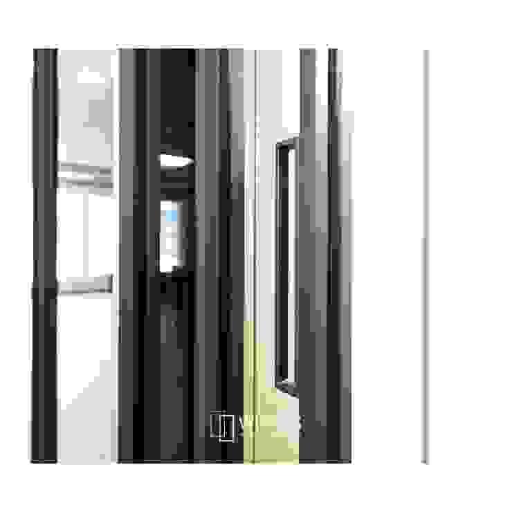 ALU-SD 슬림 핸들 모던스타일 복도, 현관 & 계단 by WITHJIS(위드지스) 모던 알루미늄 / 아연