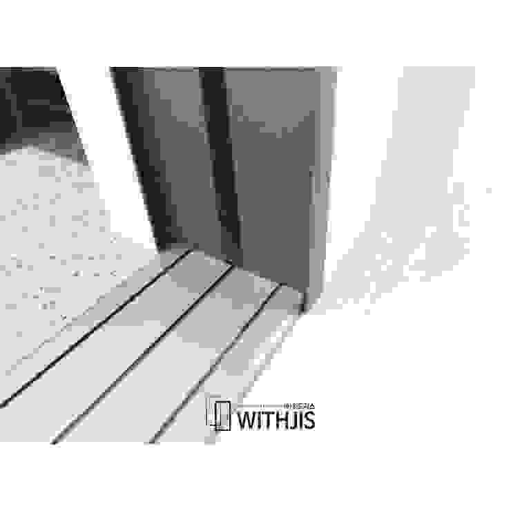 하부의 트랙과 측면 모던스타일 복도, 현관 & 계단 by WITHJIS(위드지스) 모던 알루미늄 / 아연