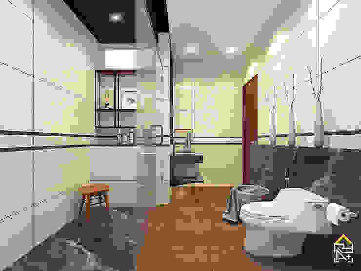 View 2 Rencana Desain Kamar Mandi dengan Granite Tile kombinasi Marmer Oleh JRY Atelier