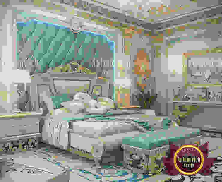Formal Relaxing Blue Bedroom by Luxury Antonovich Design