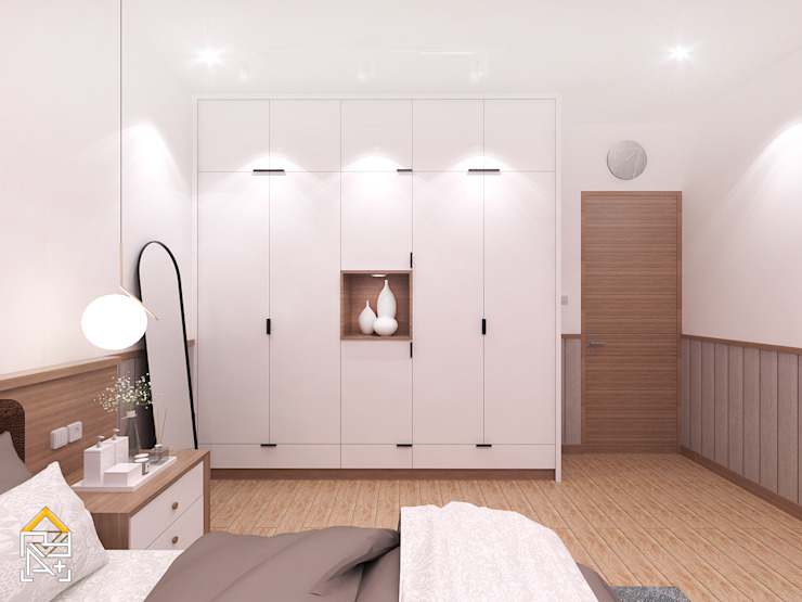 Scandinavian style bedroom by JRY Atelier Scandinavian Plywood