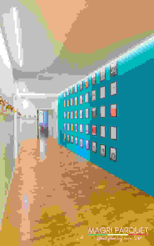 Magri Parquet Modern Corridor, Hallway and Staircase Engineered Wood Brown