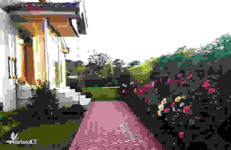 V.A KONUT PEYZAJ PROJESİ VE UYGULAMASI Modern Bahçe konseptDE Peyzaj Fidancılık Tic. Ltd. Şti. Modern