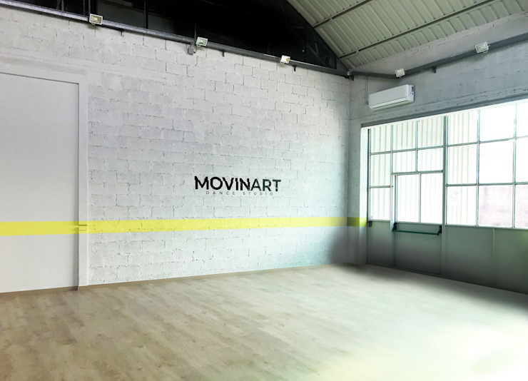 Scuola di danza Rifò Palestra in stile industriale Grigio