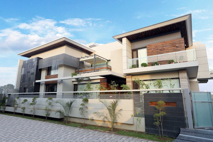 Modern house Exterior Modern Houses by Planet Design and associate Modern