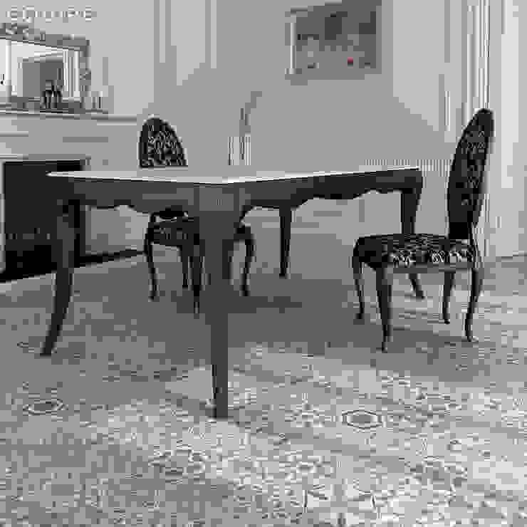 Equipe Ceramicas Sala da pranzo in stile scandinavo Piastrelle Grigio
