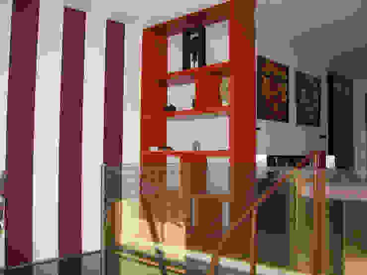 Estantería separadora Dormitorios de estilo industrial de Almudena Madrid Interiorismo, diseño y decoración de interiores Industrial