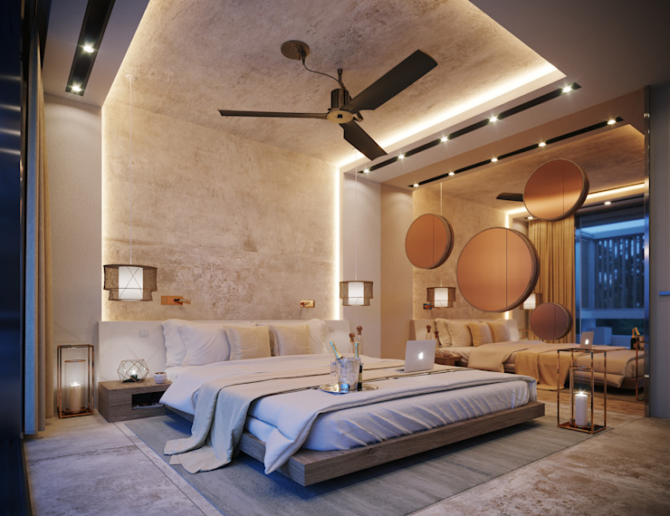 Bedroom by TABARQ, Mediterranean