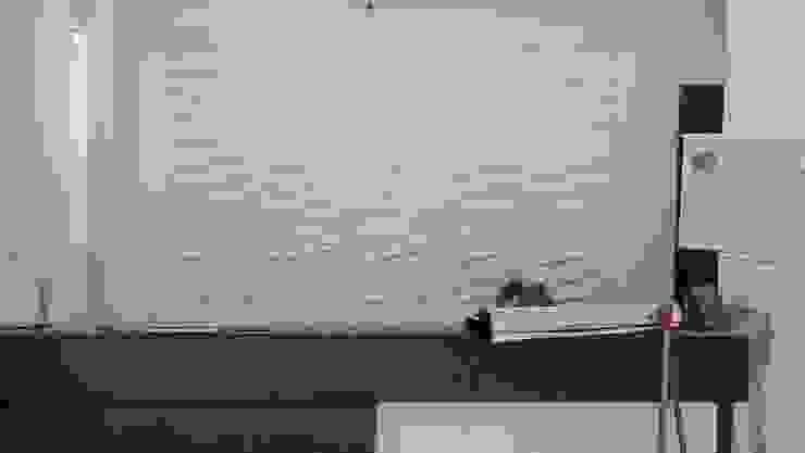 INSTALACIONES INSTITUCIONALES PANEL 3D - DECKO BOARD -FIBRA VEGETAL DE BAMBÚ de TITAN DECKO Moderno