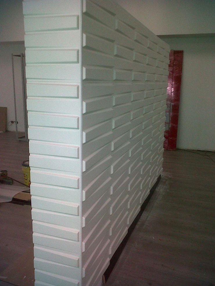 Suministro Paneles 3D FIBRA VEGETAL -Proyecto Hotel Tequendama Oficinas Administrativas de TITAN DECKO Moderno Bambú Verde
