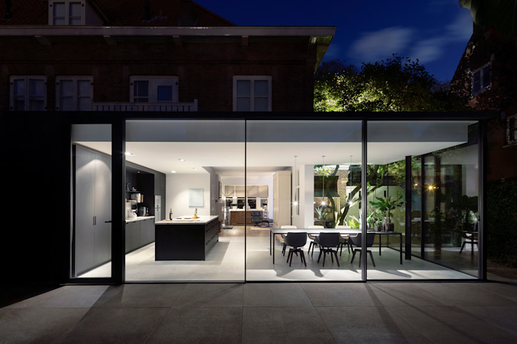 Fig Tree House Minimalistische eetkamers van Bloot Architecture Minimalistisch Glas