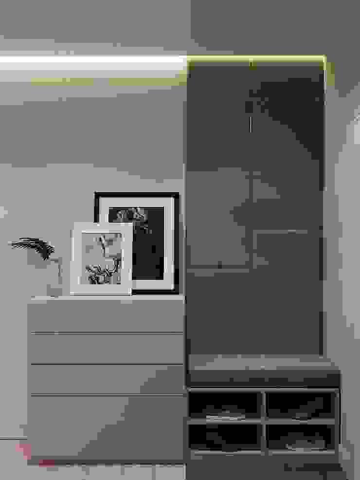 Scandinavian style corridor, hallway& stairs by CUBE INTERIOR Scandinavian