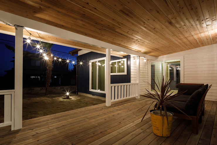 Eclectic style balcony, veranda & terrace by dwarf Eclectic