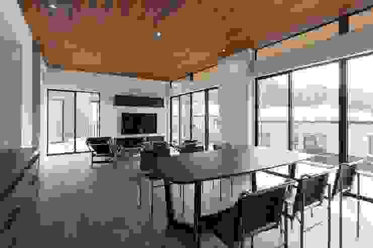 Moderne Esszimmer von 株式会社横山浩介建築設計事務所 Modern