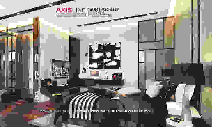 Interior Design : ออกแบบตกแต่งภายใน บ้านคุณอุดมลักษณ์ หมู่บ้านนันทวัน ปิ่นเกล้า ราชพฤกษ์ : ผสมผสาน  โดย บริษัทแอคซิสลาย จำกัด, ผสมผสาน