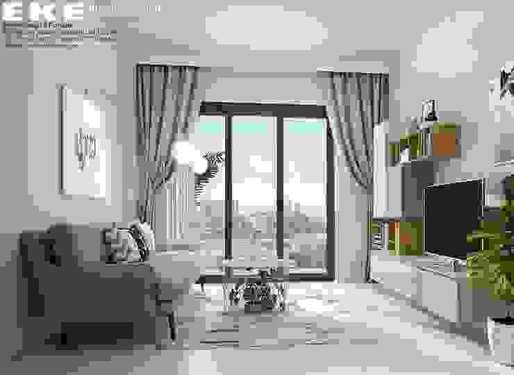 Phòng khách: hiện đại  by EKE Interior, Hiện đại
