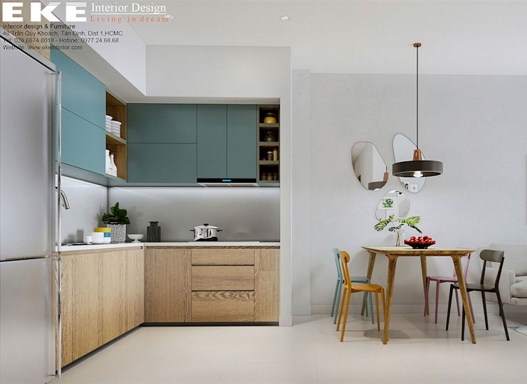 bếp: hiện đại  by EKE Interior, Hiện đại