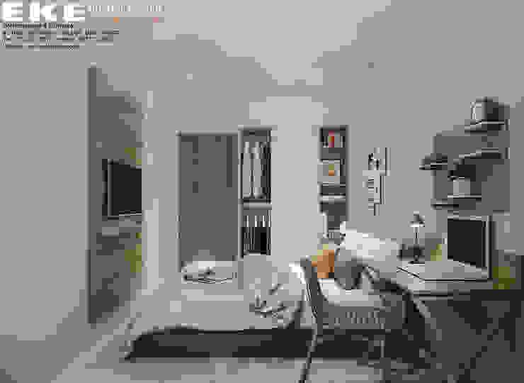 Phòng ngủ: hiện đại  by EKE Interior, Hiện đại