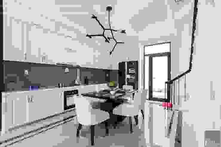 Thiết kế và thi công nội thất biệt thự Tân Cổ Điển sang trọng và đẳng cấp Phòng ăn phong cách kinh điển bởi ICON INTERIOR Kinh điển