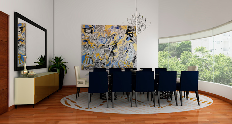 Modern Dining Room by Luis Escobar Interiorismo Modern