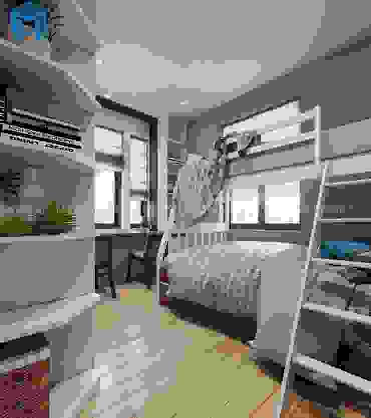 Phòng ngủ nhỏ dành cho con trai Công ty TNHH Nội Thất Mạnh Hệ Phòng ngủ nhỏ Wood effect