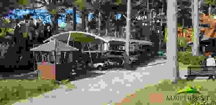 Mái che tại Ana Mandara Đà Lạt Nhà để xe/nhà kho phong cách hiện đại bởi Công ty TNHH Havico Việt Nam Hiện đại