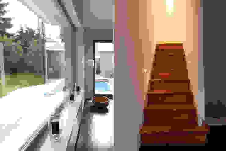 DH am Westpark München:  Treppe von WSM ARCHITEKTEN,Modern