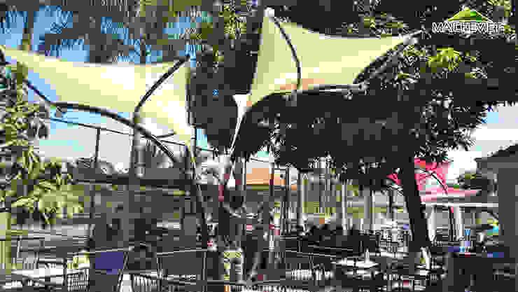 Thiết kế và thi công mái che ngoài trời của quán cà phê Sky Coffee Tiền Giang bởi Công ty TNHH Havico Việt Nam Bắc Âu
