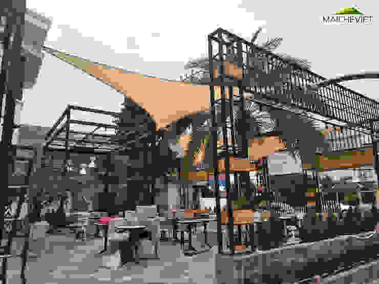 Thiết kế và thi công mái che ngoài trời của quán cà phê Sky Coffee Tiền Giang Nhà phong cách Bắc Âu bởi Công ty TNHH Havico Việt Nam Bắc Âu