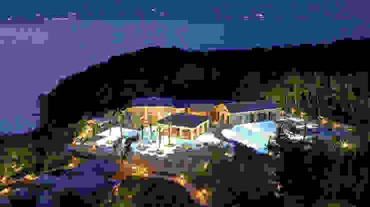 Vista del resort dall'alto siru srl Case eclettiche