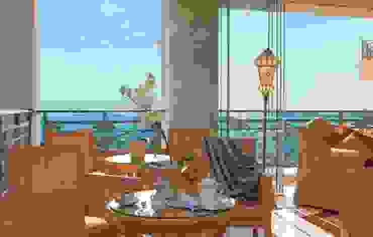 Vista dall'hotel siru srl Balcone, Veranda & Terrazza in stile eclettico